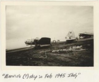 Marvin's ship in Feb. 1945, Italy B-17 43-38487 LIL' BUG
