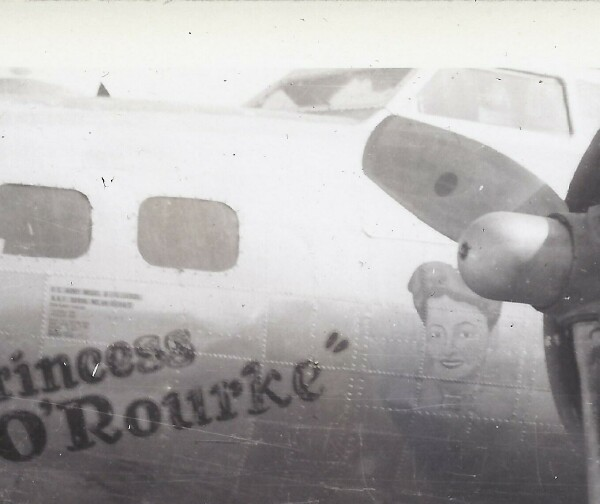 Princess O'Rourke- Courtesy of T/Sgt Kenneth J Schuck 352nd Squadron B-17 44-6347 Princess O'Rourke