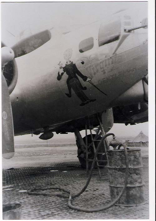 Picture courtesy of Walter Sabo B-17 44-6370 The Virginia Gentleman