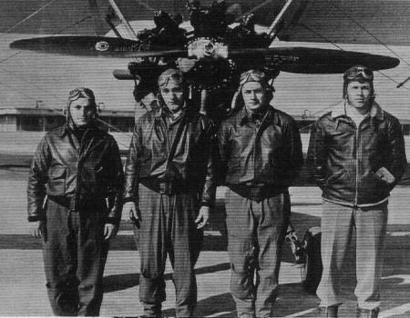 Chester H. Koch, second from left, Ranklin Academy 1943, training