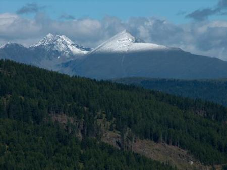 Right to left - Mt. Preber, Mt. Schoneck and Mt.Kasereck are where 301st BG Crash Sites located