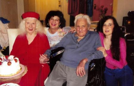 Harvey Kaufman with his wife and two of his daughters