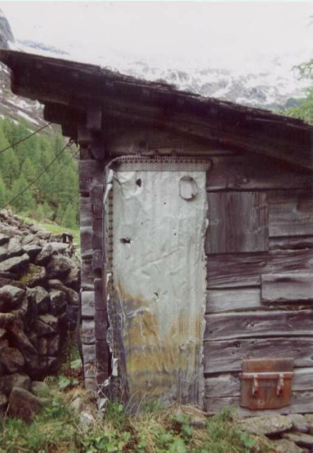 Part of the wing used on a hunter's hut