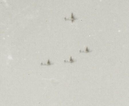 B-24's in the distance