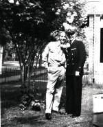 Fred with his Brother-In-Law Richard Jorgenson who survived the sinking of the USS Lexington in the Battle of the Coral Sea