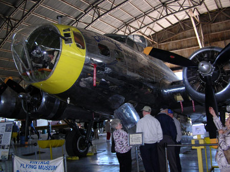 Touring B-17 at Vintage Flying Museum in Ft. Worth