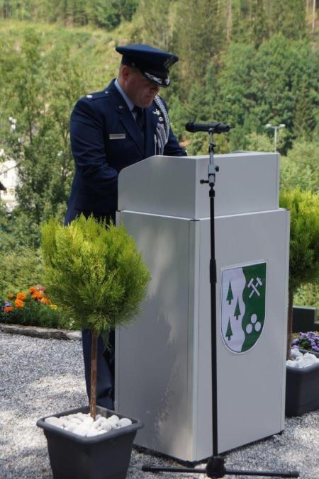 Lt. Colonel Scott Ogledzinski from the US Embassy in Vienna representing the US Air Force