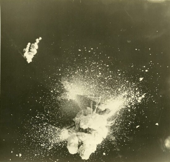 <P><B> A six to eight thousand ton munitions ship takes a direct hit and blows up. </B></P> 301st Bombardment Group Mission to Off Bizerte TU  - C on 04/06/1943