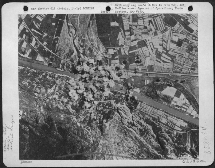 301st Bombardment Group Mission to Avisio  Italy  - RR Br on 05/24/1944