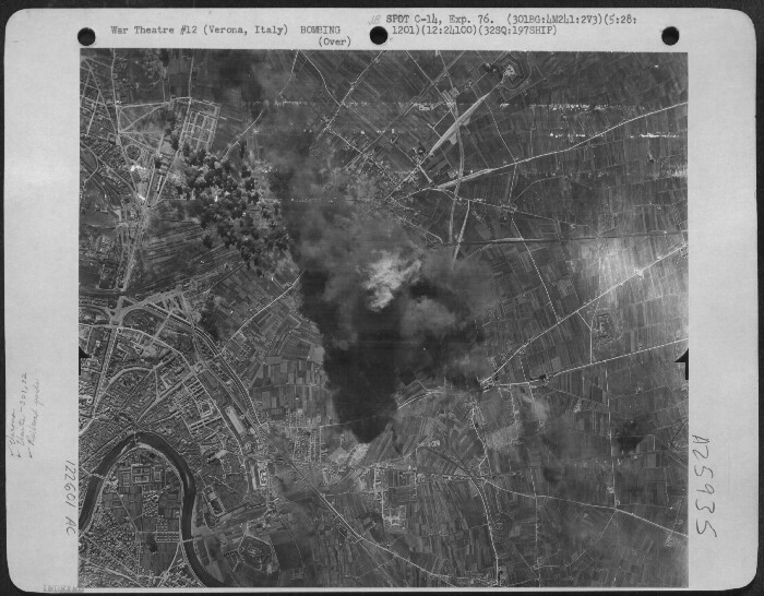 301st Bombardment Group Mission to Verona Italy  - MY on 03/28/1944