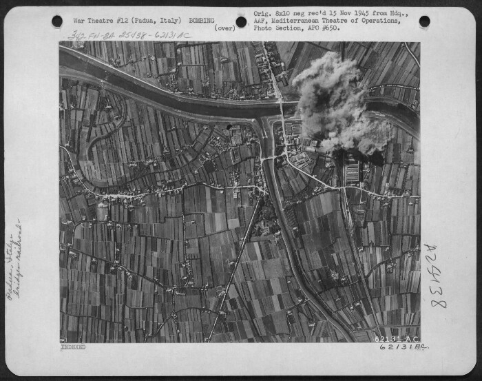 301st Bombardment Group Mission to Padua  Italy  - RR Bridge on 04/12/1945