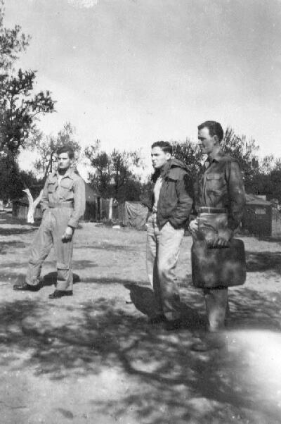 L to R - James Ott, Sidney Gitlin, Warren Morgan - 301st BG, Army Air Corps Library and Museum