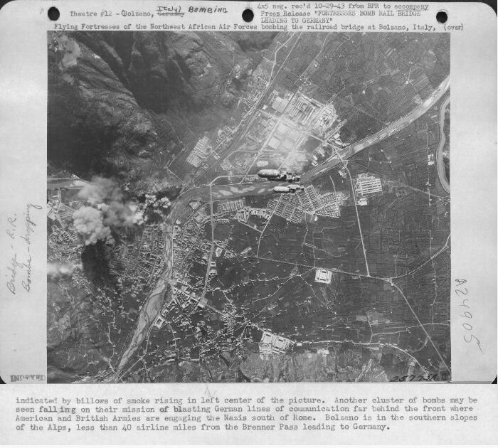 301st Bombardment Group Mission to Bolzano RR, Italy on 09/02/1943