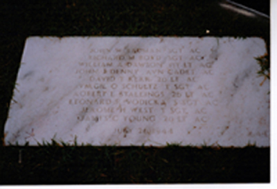 Grave Site at Jefferson Barracks, St. Louis, MO. - 301st BG, Army Air Corps Library and Museum