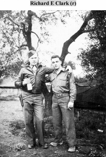 T/Sgt. Richard E Clark (R) - 301st BG, Army Air Corps Library and Museum