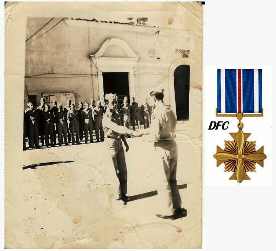 2nd Lt. Harold Dixon receives the DFC from General Twining - 301st BG, Army Air Corps Library and Museum