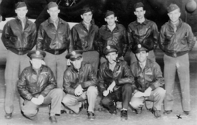 Dwight L. Kimberlin at the right of his crew - 301st BG, Army Air Corps Library and Museum