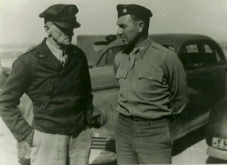 Lt. Gen. Spaatz and Lt. Col. Gormly in North Africa 301st HQ