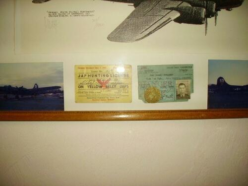 Some of Joe's souvenirs from the war years - 301st BG, Army Air Corps Library and Museum