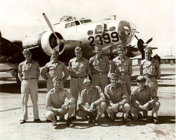 Two known crewmen are Sgt. John Elsen, second from left and Sgt. James Province, far right in back row. The picture was taken during training.  - 301st BG, Army Air Corps Library and Museum