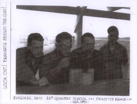 Bill at Gunnery School in Kingman, AZ - 301st BG, Army Air Corps Library and Museum