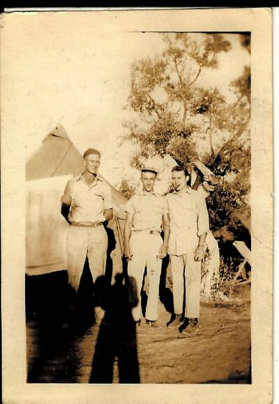 left - Ground Crew Chief; Center - Harold; right - Radio Operator - 301st BG, Army Air Corps Library and Museum