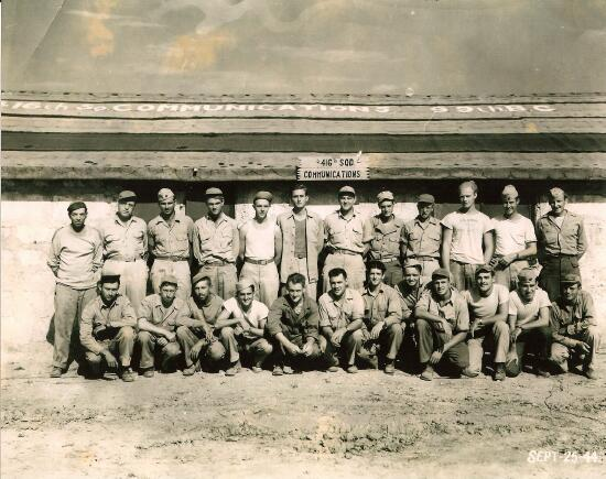 Henry is in the front row, 3rd from right. - 301st BG, Army Air Corps Library and Museum