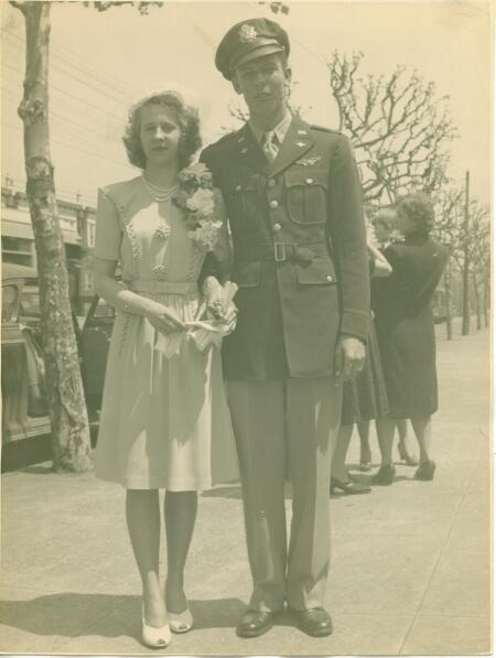 Henry and Mary Laarkamp on May 3, 1944 - 301st BG, Army Air Corps Library and Museum