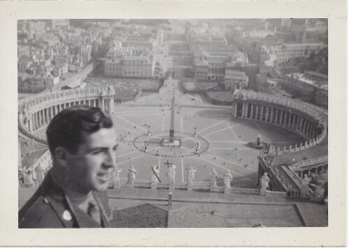 T/Sgt Kenneth J Schuck in Rome - 301st BG, Army Air Corps Library and Museum
