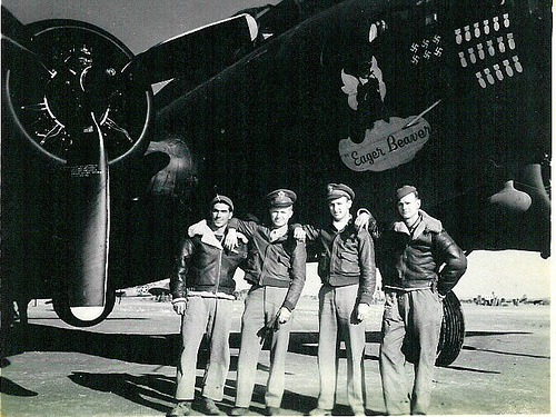 1st Lt. Bridges 2nd from left - 301st BG, Army Air Corps Library and Museum