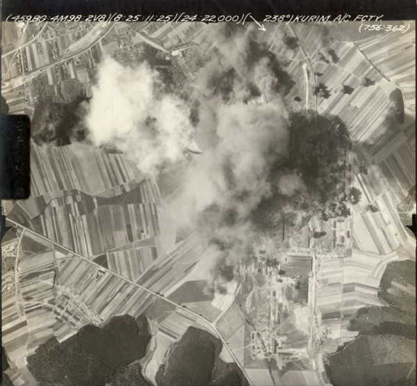 The mission was designed to destroy the Kurim aircraft factory and airdrome at  Brno, Czechoslovakia, an important factory complex. 301st Bombardment Group Mission to Brno  Czech  - AD & A/C Factory on 08/25/1944