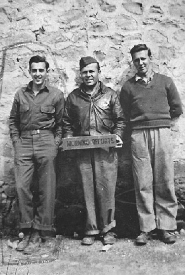 Robert Weintraub on the left - 301st BG, Army Air Corps Library and Museum