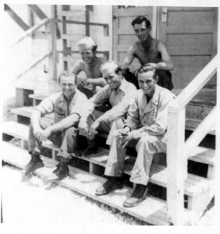 Joseph Sabo with his crew setting front right - 301st BG, Army Air Corps Library and Museum