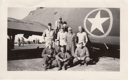 The crew with their B-17 in St. Donat, Algeria - 301st BG, Army Air Corps Library and Museum