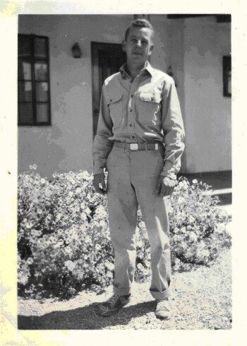 Walter at Alamogordo, New Mexico - 1942 - 301st BG, Army Air Corps Library and Museum