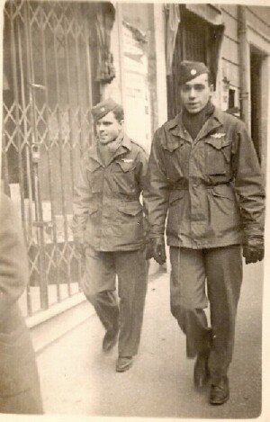 Wright Plummer and John Kurland in Italy - 301st BG, Army Air Corps Library and Museum