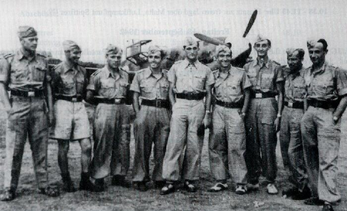 Pilots of erd JG77, second from right Ofw. Herman Stahl - 301st BG, Army Air Corps Library and Museum