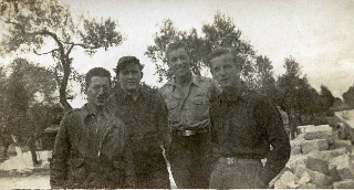 Stanley is first on the left with some buddies - 301st BG, Army Air Corps Library and Museum