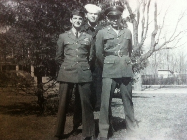 T/Sgt. Vincent Rhodes is left front - 301st BG, Army Air Corps Library and Museum