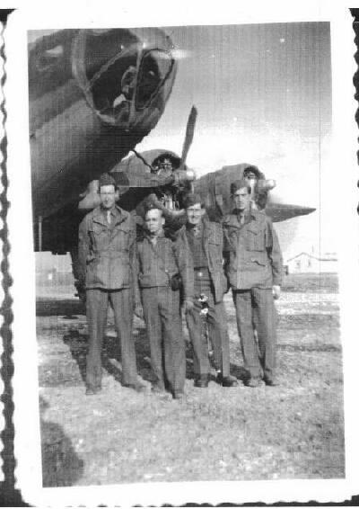Joe Davis,  Rulon  and two unknowns - 301st BG, Army Air Corps Library and Museum