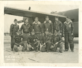 The crew shot is of the men who flew the B24G across from Topeka, Kansas to Northern Africa in March 1944.   Captain Donald W. Ewing is kneeling on the left - 301st BG, Army Air Corps Library and Museum